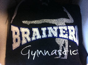 Brainerd Gymnastics double layer twill with metalic embroidery